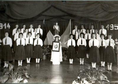 1954 - Apresentação das Alunas