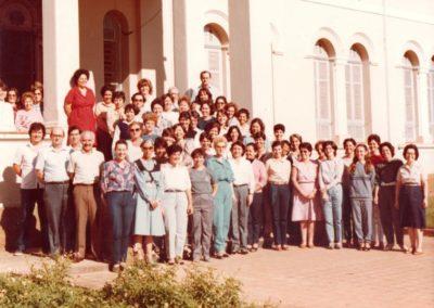 1984 - Corpo Docente na comemoração de 70 anos do Colégio