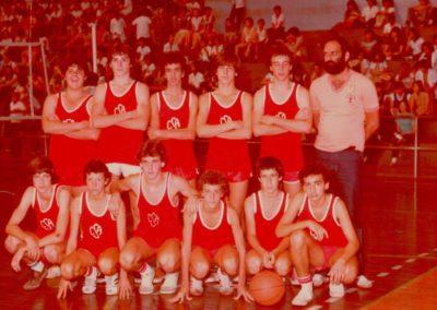 Década de 80 - Equipe de Basquete